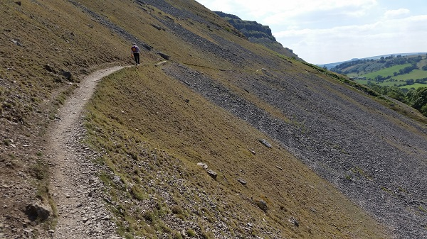 Walking the scree path