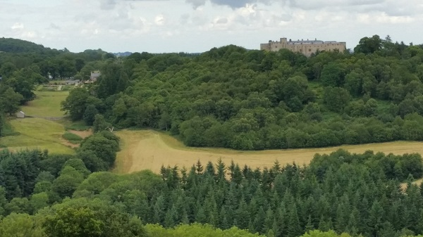 Looking back at Chirk Castle