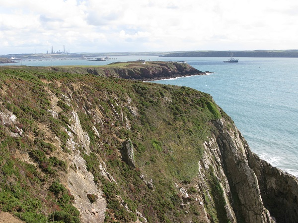 Looking back to Milford Haven